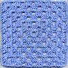 Blue Crocheted Square