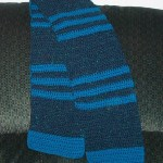 Crocheted Striped Scarf