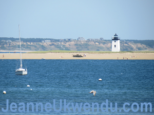 Wood End Lighthouse with the tide in